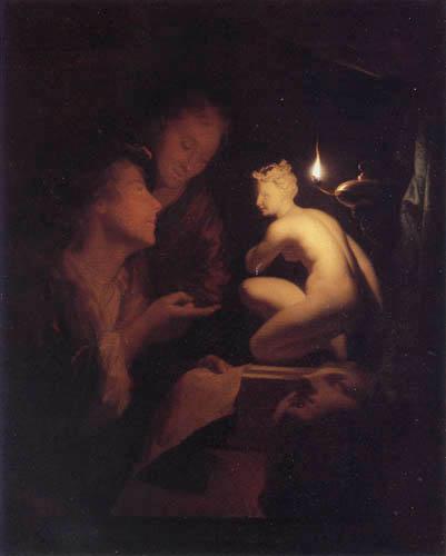 Gottfried (Godfried) Schalcken - Art in the candle light