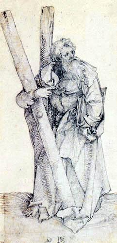 Hans Leonhard Schäufelein (Scheufelin) - Apostel Andreas