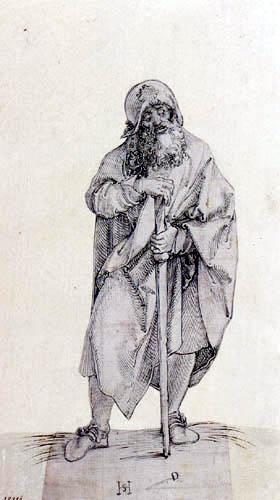 Hans Leonhard Schäufelein (Scheufelin) - Apostle Jacob the Elder