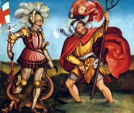 Hans Leonhard Schäufelein (Scheufelin) - Saints George and Christophorus