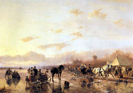 Andreas Schelfhout - Winter landscape