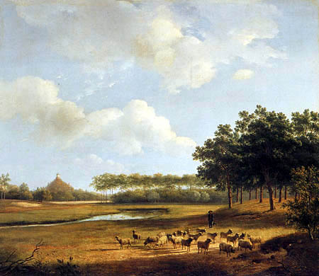 Andreas Schelfhout - View of the Seringenberg