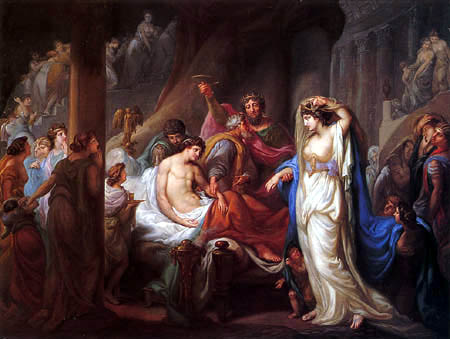 Johann Eleazar Schenau - Antiochus and Stratonice of Syria