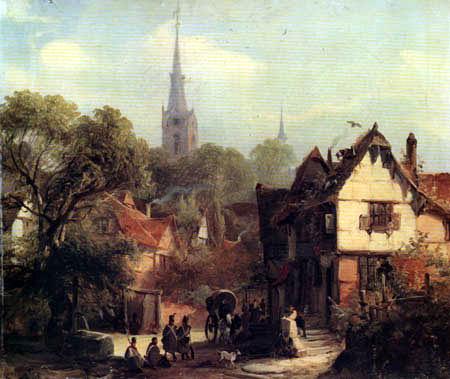 Caspar Johann Nepomuk Scheuren - Village