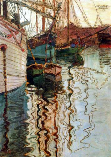 Egon Schiele - Sailingvessels