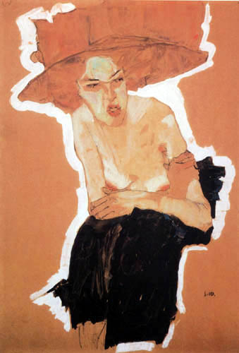Egon Schiele - The gloatingly Woman