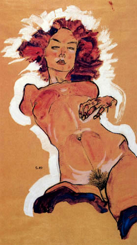 Egon Schiele - Female act with