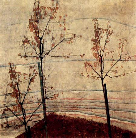 Egon Schiele - Herbstbäume