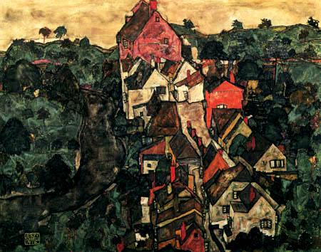 Egon Schiele - Krumauer Landschaft