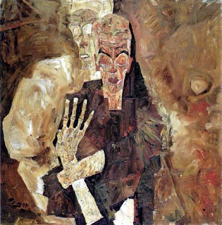 Egon Schiele - Selbstseher- Der Tod und der Mann