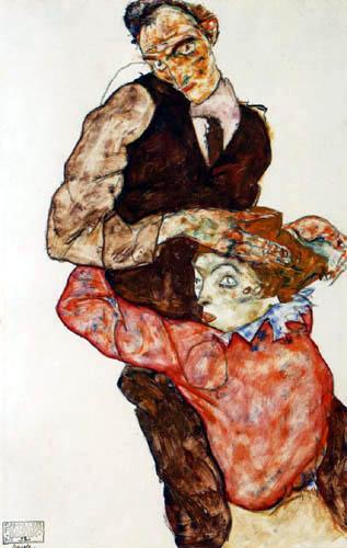 Egon Schiele - Liebespaar
