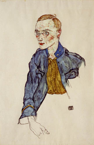 Egon Schiele - A young private first class