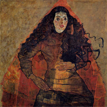 Egon Schiele - Portrait of Trude Engel