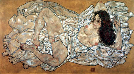 Egon Schiele - A Reclining Woman