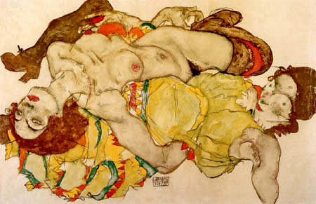 Egon Schiele - Two Young Women