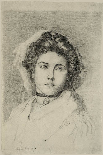 Egon Schiele - Portrait of a lady with a medallion