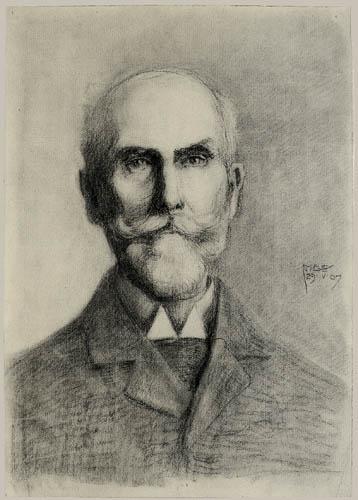 Egon Schiele - Portrait of a bearded man