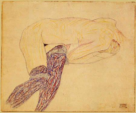 Egon Schiele - Liegender Akt
