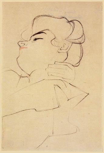 Egon Schiele - Melanie Schiele, sleeping