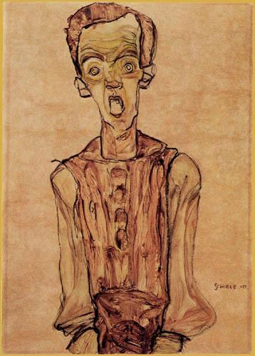 Egon Schiele - Selbstbildnis