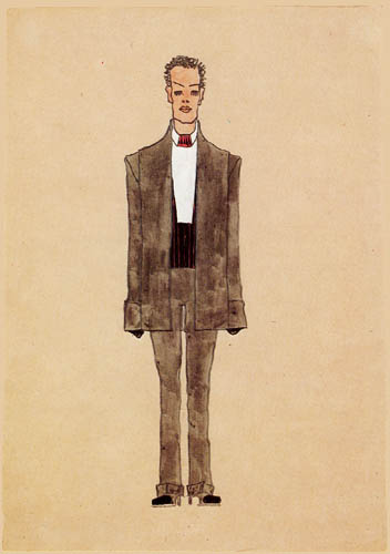 Egon Schiele - Fashion design, Gray Suit