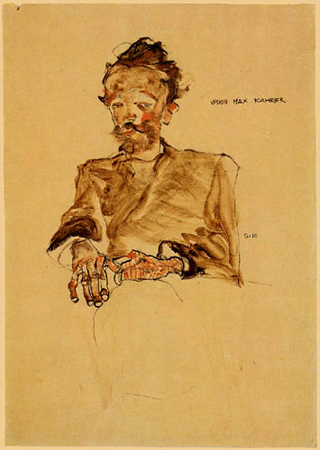 Egon Schiele - The Painter Max Kahrer