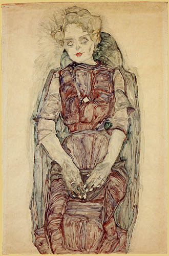 Egon Schiele - Sitting woman