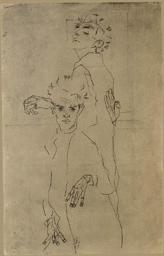 Egon Schiele - Double self portrait
