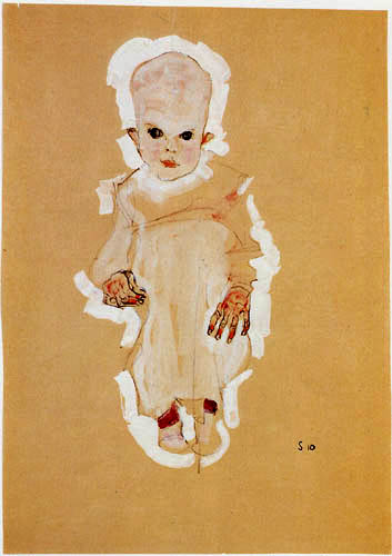 Egon Schiele - Baby
