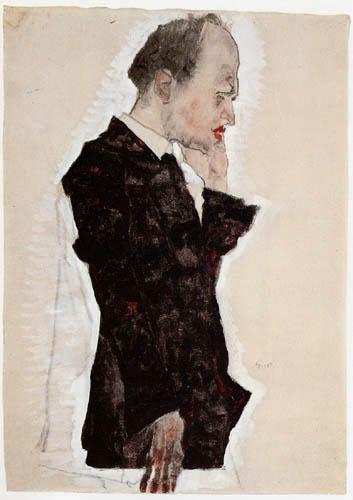 Egon Schiele - Portrait of Oskar Reichel