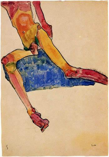 Egon Schiele - Sitzender männlicher Torso