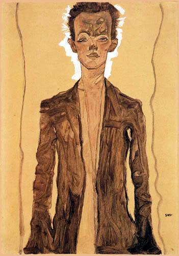 Egon Schiele - Autoportrait
