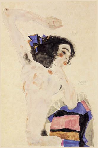 Egon Schiele - Nude, Moa