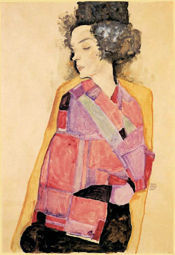Egon Schiele - The dreaming woman