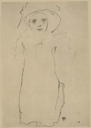 Egon Schiele - Lady with hat