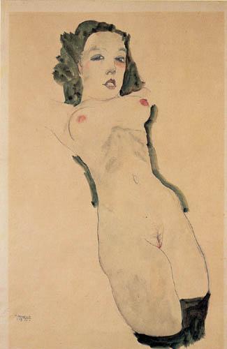 Egon Schiele - A Reclining Nude