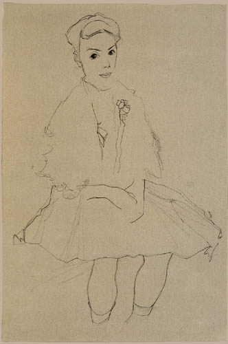 Egon Schiele - Girl in the skirt