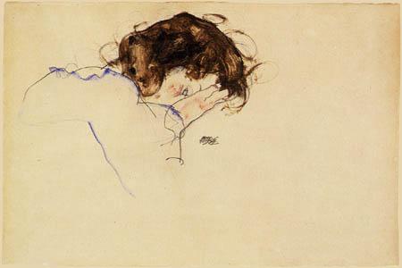 Egon Schiele - Sleeping girl
