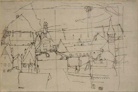 Egon Schiele - Krumau