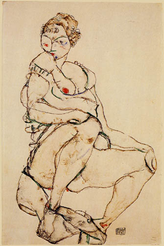 Egon Schiele - Seated Nude