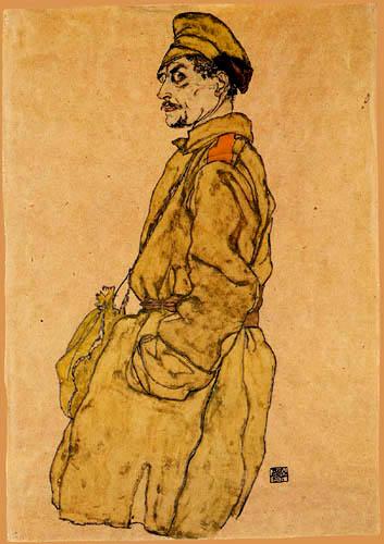 Egon Schiele - Kriegsgefangener Russe