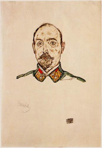 Egon Schiele - Portrait of a officer