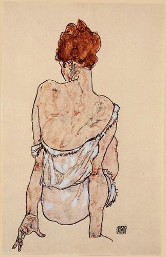 Egon Schiele - Sitting woman