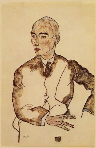 Egon Schiele - Portrait of Viktor Ritter of Bauer