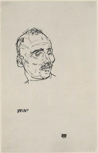Egon Schiele - Gustav Klimt on his deathbed