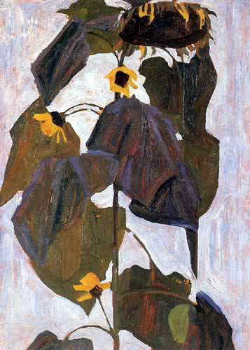Egon Schiele - Sonnenblumen