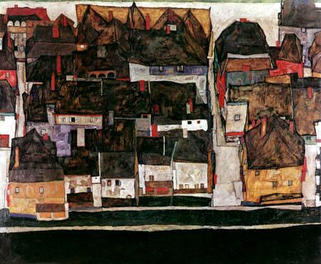 Egon Schiele - Krumau an der Moldau