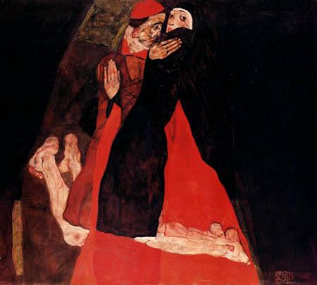 Egon Schiele - Le cardinal et la nonne
