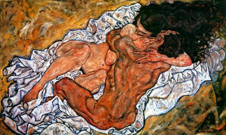 Egon Schiele - The embracement