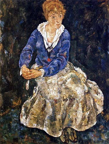 Egon Schiele - Portrait of the wife of the artist
